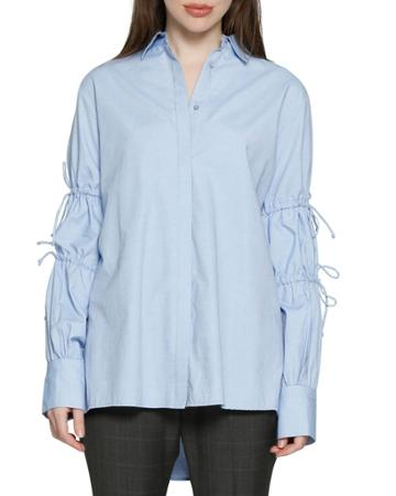 Ashlee Tie-sleeve Button-down Top