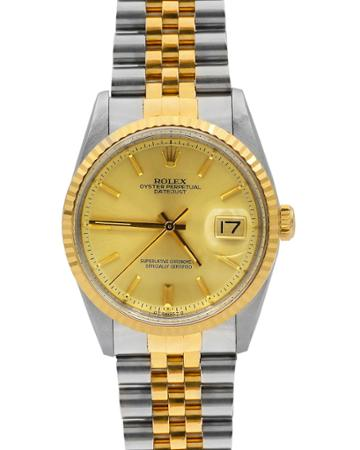 Pre-owned Men's 36mm Datejust Watch W/ 18k Gold
