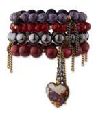 Heart Bead Layered Bracelet