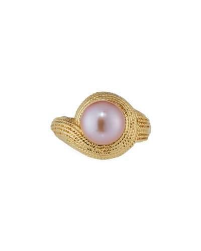 14k Pink Freshwater Pearl Ring,