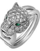 18k Panthere Pave Diamond Ring,