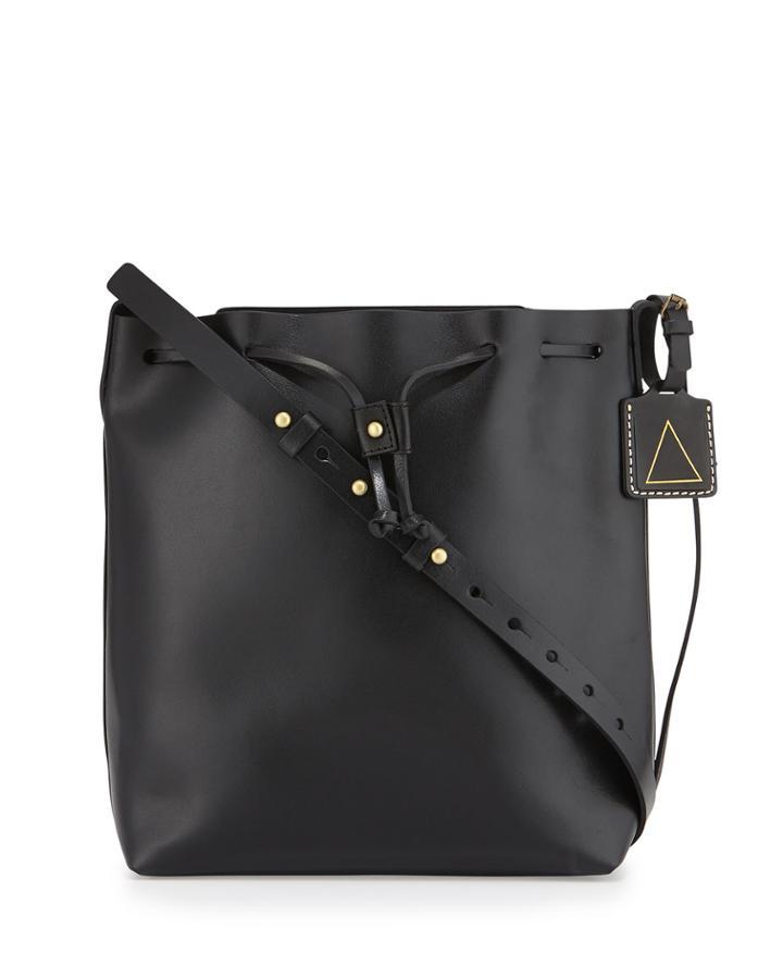 Kelsi Dagger Wythe Leather Bucket Bag, Black,