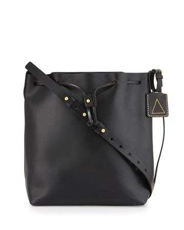 Kelsi Dagger Wythe Leather Bucket Bag, Black,
