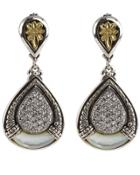 Asteri Pave White Diamond & Mother-of-pearl Double-drop Earrings
