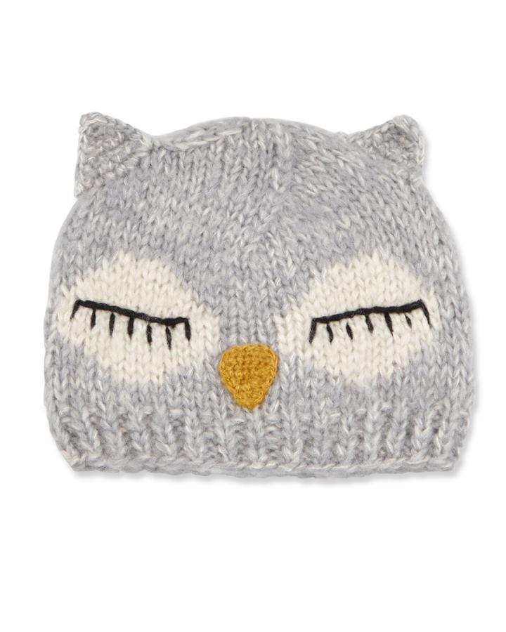 Sleeping Owl Knit Beanie