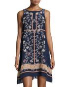 Floral-print Sleeveless Chiffon Dress