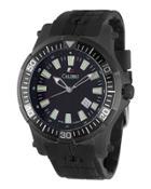 45mm Men's Rubber Hawk Watch, Black
