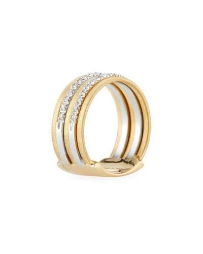 Goa Five-row Pavé Diamond Ring,