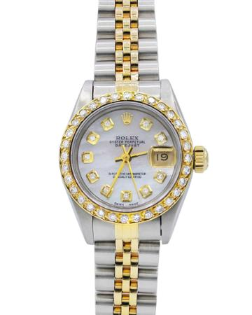 Pre-owned 26mm Datejust 18k Gold & Diamond Watch
