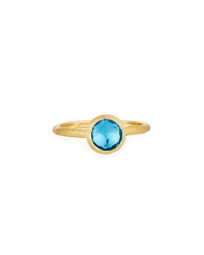 Small Jaipur Ring In Blue Topaz,