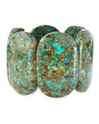 Compressed Turquoise Stretch Bracelet