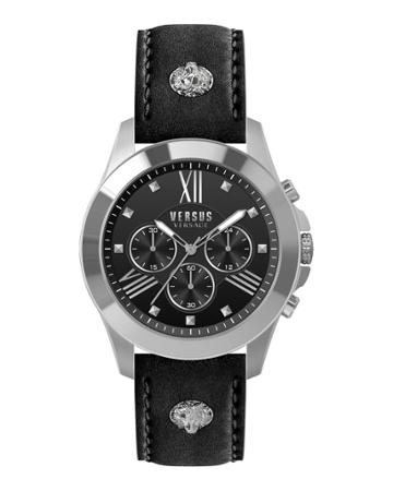 Men's 44mm Chronograph Watch W/ Leather