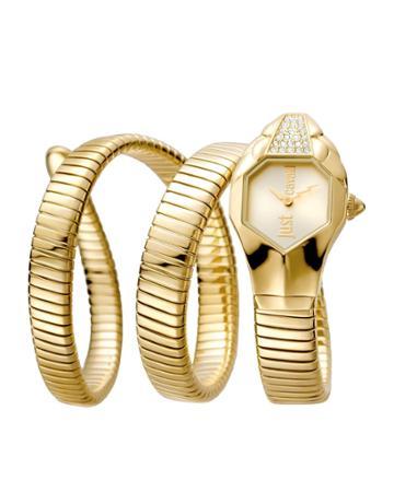 22mm Glam Chic Coil Bracelet Watch, Yellow Golden