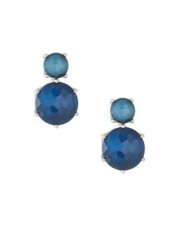 Rock Candy Snowman Earrings, Deep Blue