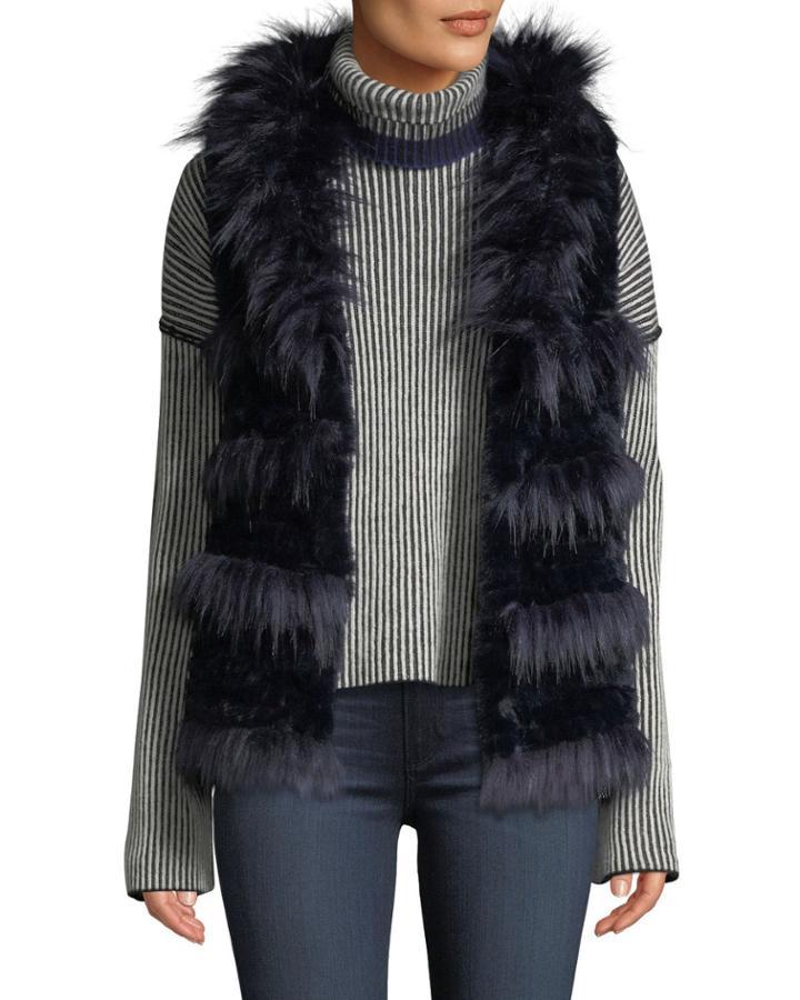 Shaggy Faux-fur Vest