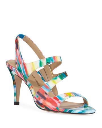 Brit High-heel Watercolor Dress