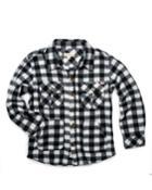Gingham Fleece Collared Shirt,