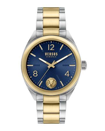 Men's 44mm Guilloche Watch W/ Bracelet Strap, Two-tone