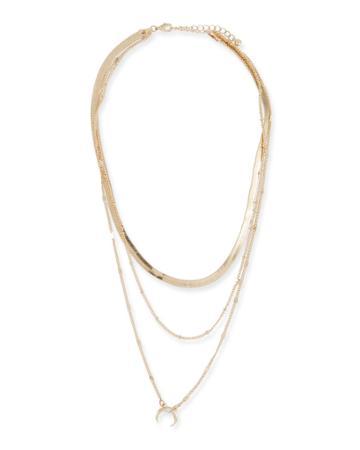 Triple-layer Squash Blossom Necklace