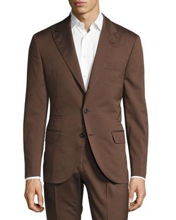 Herringbone Deconstructed Jacket, Brown