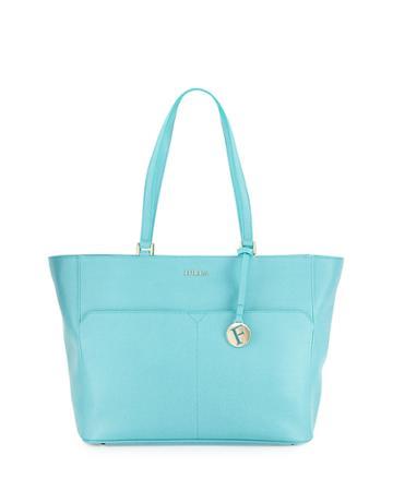 Furla Musa Medium Pocket Leather Tote Bag, Laguna, Women's