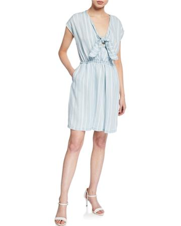 Ariadne Striped Knot-tie Dress