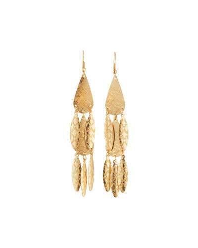 Etched Golden Multi-drop Earrings