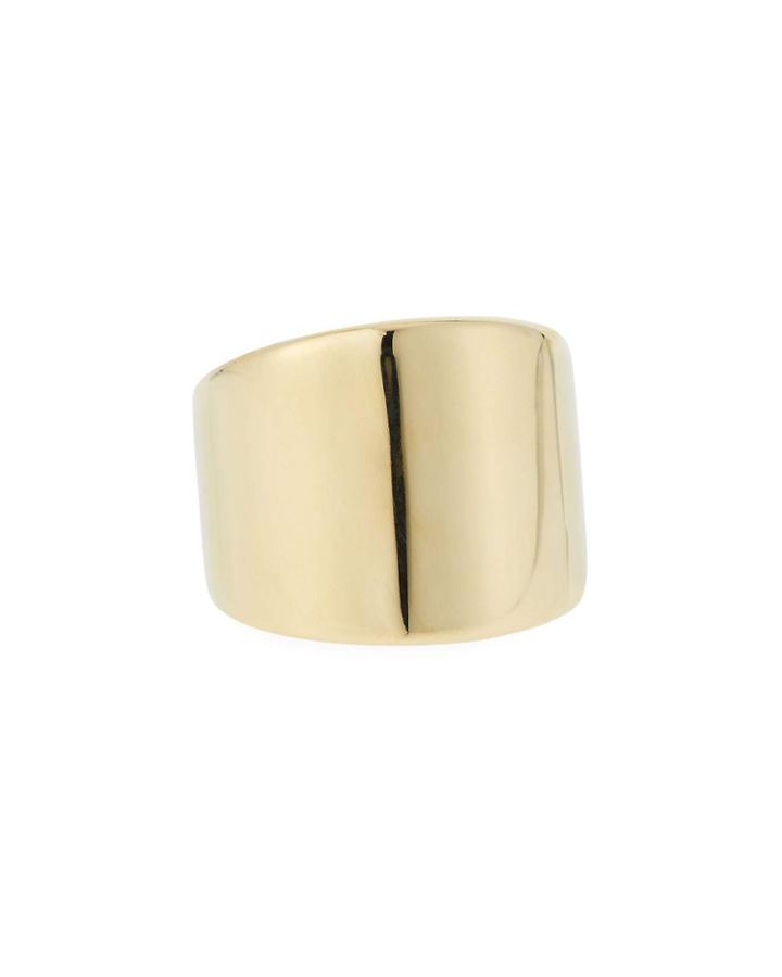 18k Shiny Wide Ring,