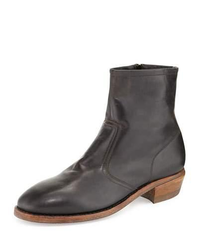 Albuquerque Leather Ankle Boot, Black