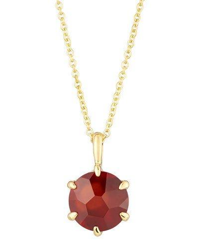 Rock Candy 18k Round Garnet Pendant Necklace