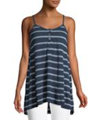 Striped Henley Cami Tunic