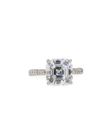 Asscher-cut Cz Crystal Ring,