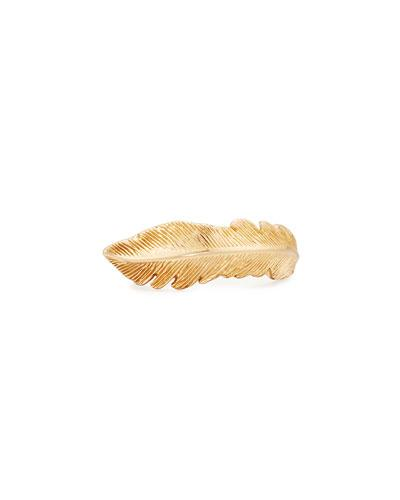 Phoenix 18k Rose Gold Large Feather Ring,
