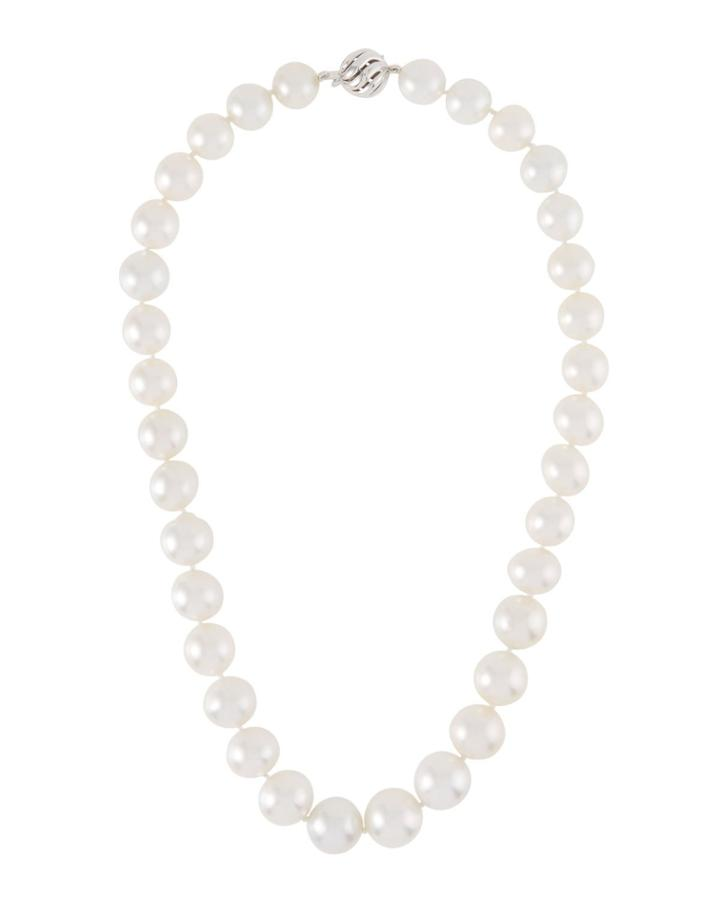 14k White Gold South Sea Pearl Necklace
