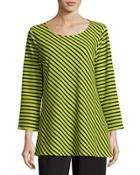 Textured Striped Knit Tunic