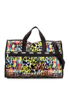 Large Printed Weekender Bag, Blooming