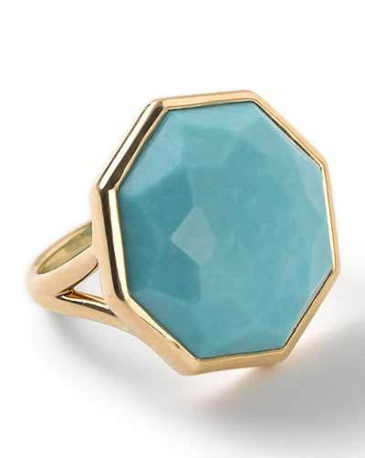18k Rock Candy Octagonal Ring In Turquoise