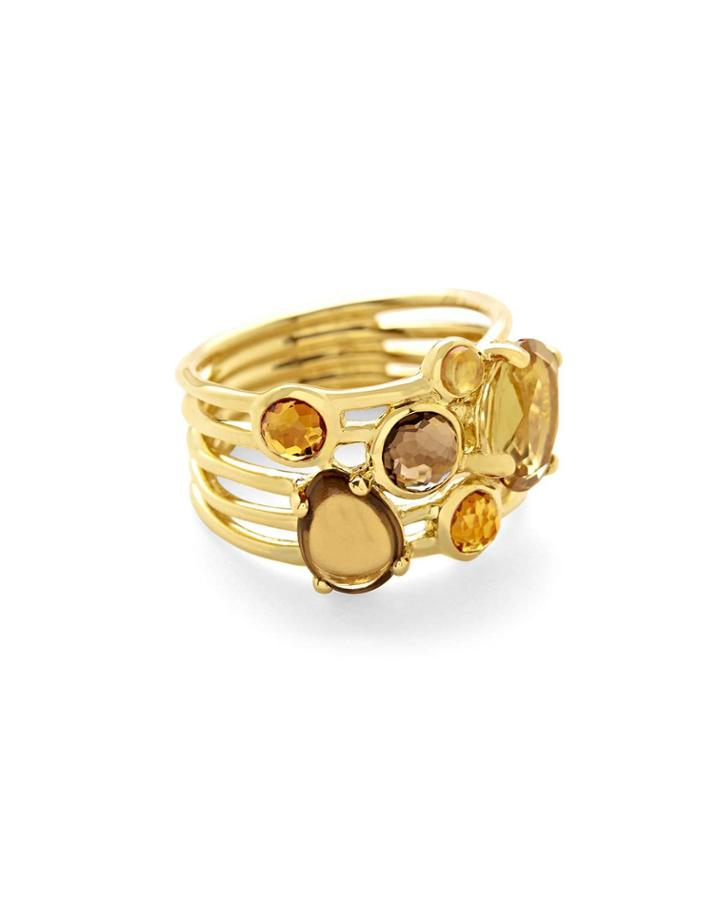 18k Rock Candy Gelato 6-stone Cluster Ring In Toffee,