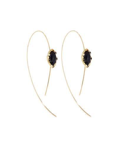 Noir Hooked On Hoop Earrings, Black