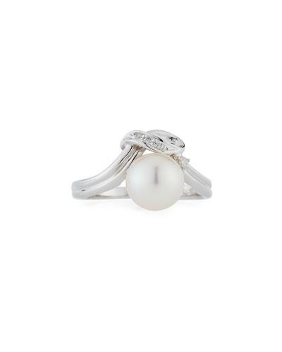 18k Diamond & Pearl Ring,