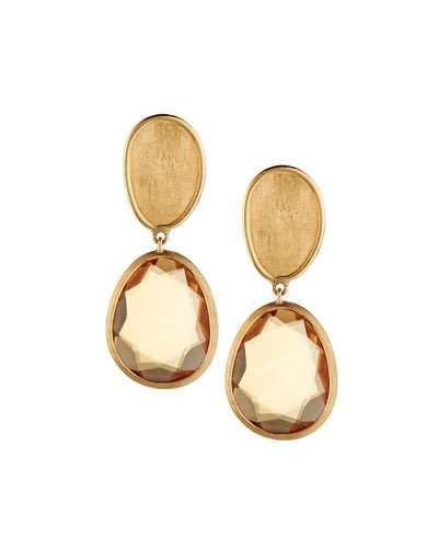 Lunaria 18k Citrine Double-drop Earrings