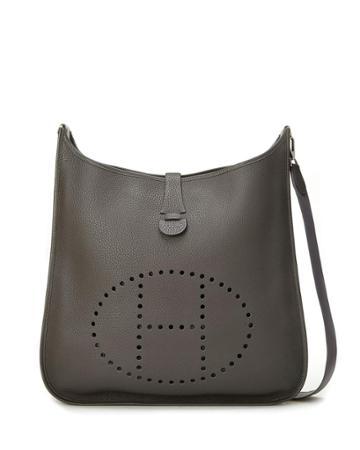Evelyn Epsom Crossbody Bag, Gray