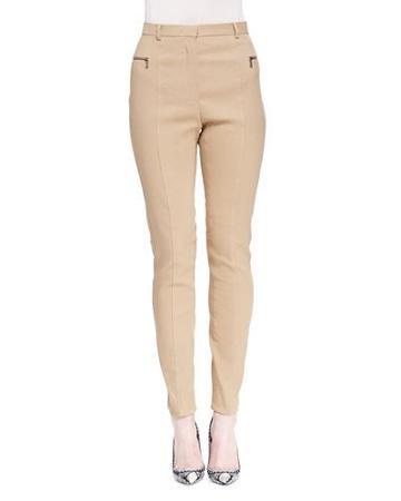 Skinny Zip-pocket Biker Pants
