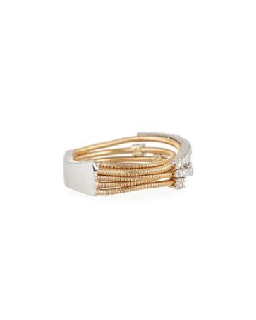 14k Two-tone Diamond Ring,