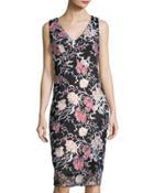 Embroidered Sleeveless Dress