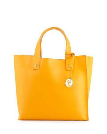 Musa Medium Leather Tote Bag, Giallo