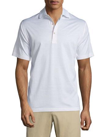 Subconscious Thin-stripe Short-sleeve Knit Polo