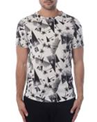Men's Triangle & Palm Tree Printed Tee