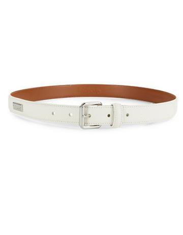 Lauren Ralph Lauren Textured Monogrammed Belt