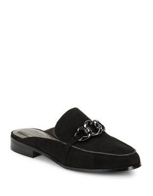 Bandolino Buckle Loop Loafer Mules